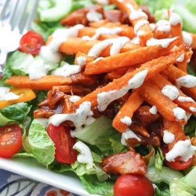Salada De Alface Com Frango